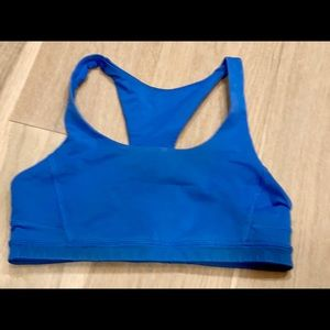 Lululemon size 4 sports bra electric blue